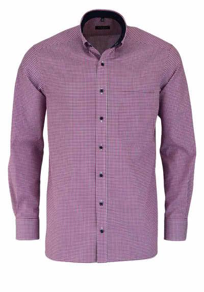 ETERNA Comfort Fit Hemd extra kurzer Arm Karo hellrot - Hemden Meister