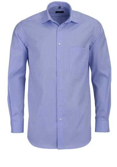 ETERNA Comfort Fit Hemd extra langer Arm blickdicht Brusttasche hellblau