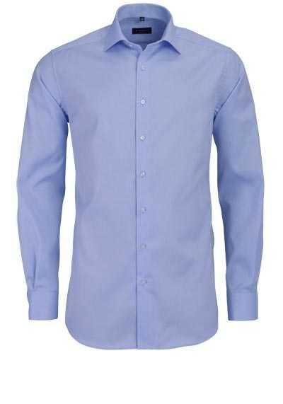 ETERNA Modern Fit Hemd extra langer Arm New Kent Kragen hellblau
