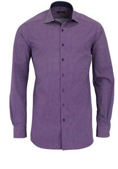 ETERNA Modern Fit Hemd extra langer Arm Muster blau - Hemden Meister