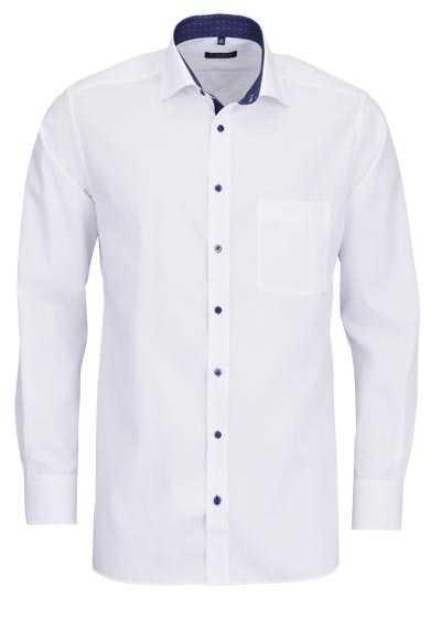 ETERNA Modern Fit Hemd extra langer Arm New Kent Kragen weiß - Hemden Meister