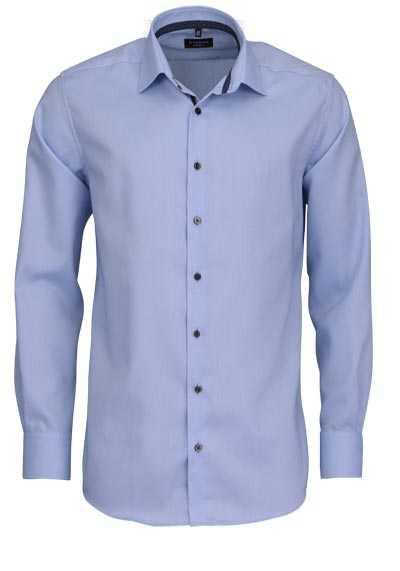 ETERNA Modern Fit Hemd extra langer Arm Strukur hellblau - Hemden Meister