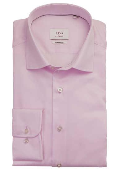 ETERNA Modern Fit Hemd extra langer Arm New Kent Kragen rosa