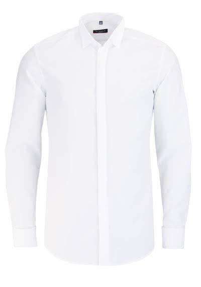 ETERNA Slim Fit Galahemd Langarm ohne Manschettenkopf weiß - Hemden Meister
