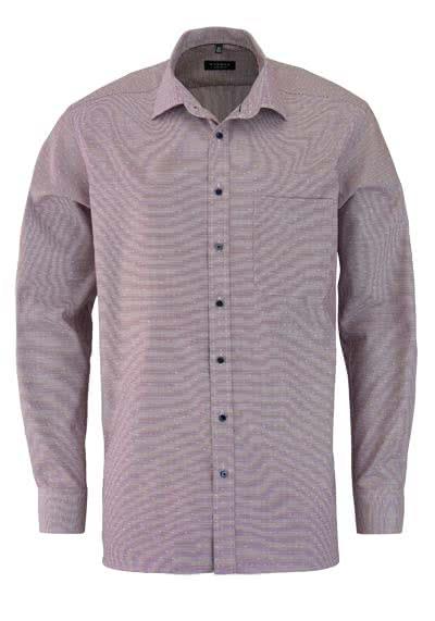 ETERNA Comfort Fit Hemd extra langer Arm Muster violett - Hemden Meister