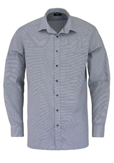 ETERNA Comfort Fit Hemd extra langer Arm Muster schwarz - Hemden Meister