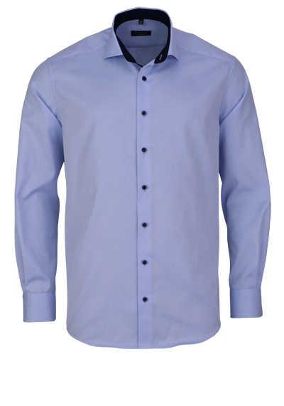 ETERNA Comfort Fit Hemd extra langer Arm Blickdicht mittelblau