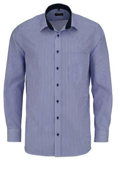 ETERNA Comfort Fit Hemd super langer Arm Streifen mittelblau - Hemden Meister