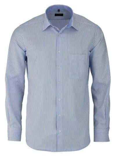 ETERNA Modern Fit Hemd Langarm New Kent Kragen Streifen hellblau - Hemden Meister