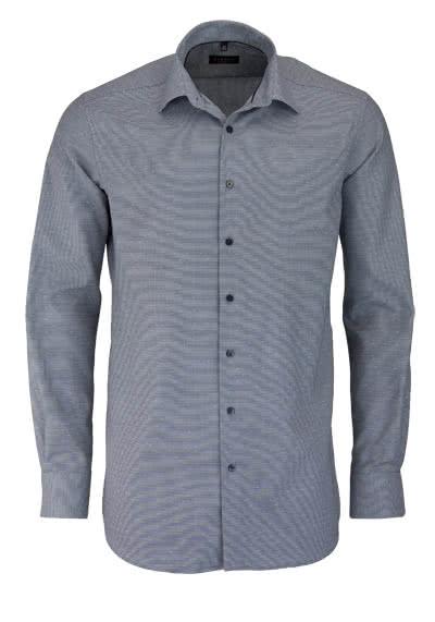 ETERNA Modern Fit Hemd super langer Arm Struktur grau - Hemden Meister