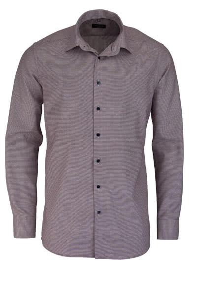 ETERNA Modern Fit Hemd extra langer Arm Muster beere - Hemden Meister