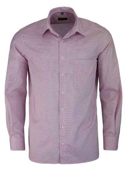 ETERNA Comfort Fit Hemd extra langer Arm Muster rot - Hemden Meister