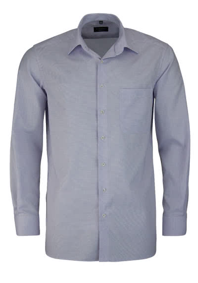 ETERNA Comfort Fit Hemd extra langer Arm Muster flieder - Hemden Meister