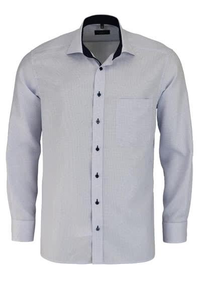 ETERNA Comfort Fit Hemd extra langer Arm Besatz Karo hellblau - Hemden Meister