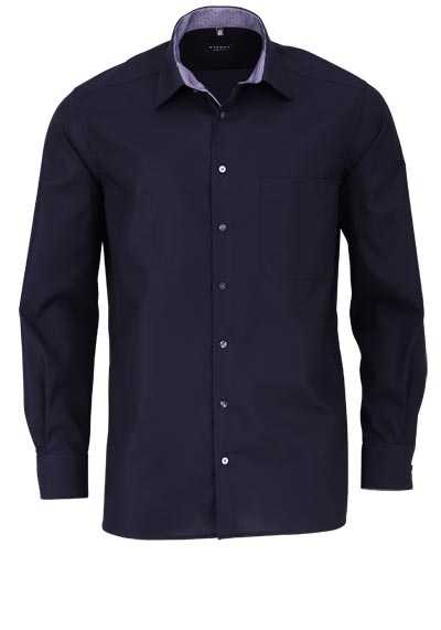 ETERNA Comfort Fit Hemd Langarm Basic Kent Kragen schwarz - Hemden Meister