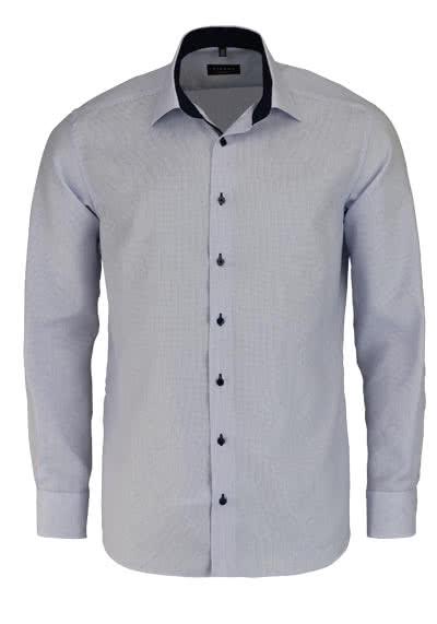 ETERNA Modern Fit Hemd extra langer Arm Besatz Stukur hellblau - Hemden Meister