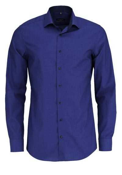 ETERNA Slim Fit Hemd Langarm New Kent Kragen Stretch dunkelblau - Hemden Meister