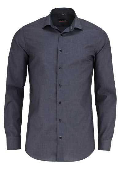 ETERNA Slim Fit Hemd Langarm New Kent Kragen Stretch dunkelgrau - Hemden Meister