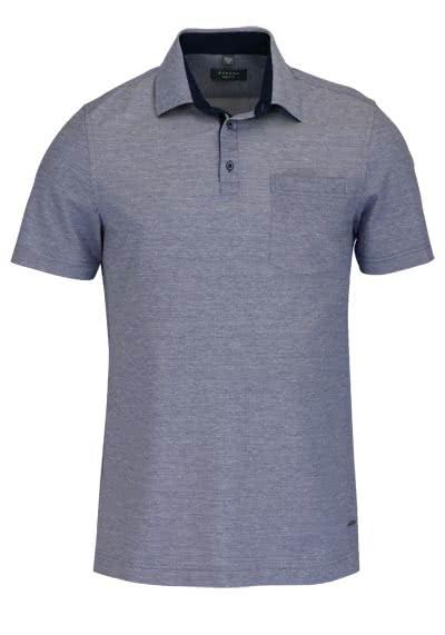 ETERNA Modern Fit Poloshirt Halbarm mit Brusttasche hellblau - Hemden Meister