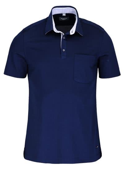 ETERNA Modern Fit Poloshirt Halbarm mit Brusttasche nachtblau - Hemden Meister