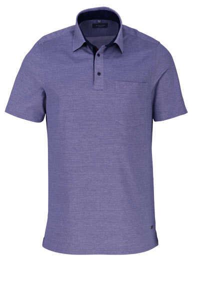 ETERNA Comfort Fit Poloshirt Halbarm mit Brusttasche Piquee hellblau - Hemden Meister