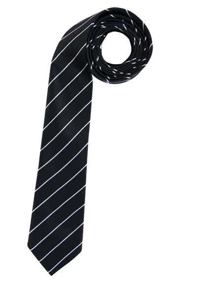 ETERNA Krawatte aus reiner Seide 6,0 cm breit Streifen schwarz - Hemden Meister