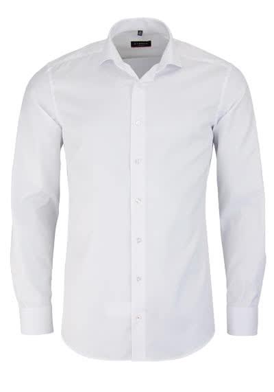 ETERNA Slim Fit Hemd super langer Arm blickdichter Twill weiß - Hemden Meister