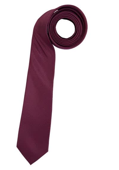 ETERNA Krawatte aus reiner Seide 6,0 cm breit weinrot - Hemden Meister