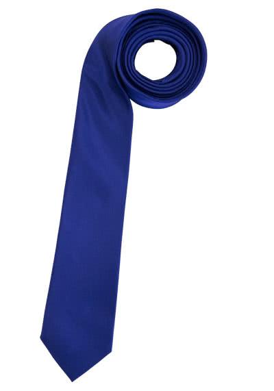ETERNA Krawatte aus reiner Seide 6,0 cm breit mittelblau - Hemden Meister