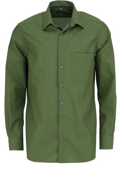 ETERNA Comfort Fit Langarm Hemd New Kent Kragen olive - Hemden Meister