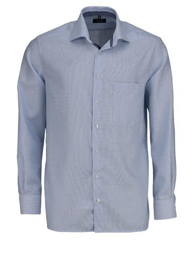 ETERNA Comfort Fit Hemd super langer Arm Streifen hellblau - Hemden Meister