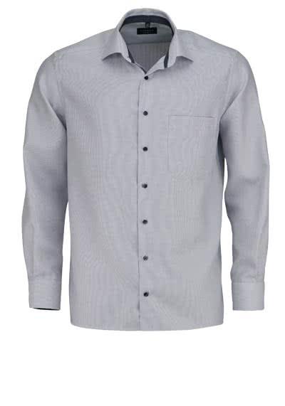 ETERNA Comfort Fit Hemd extra langer Arm Streifen hellgrau - Hemden Meister
