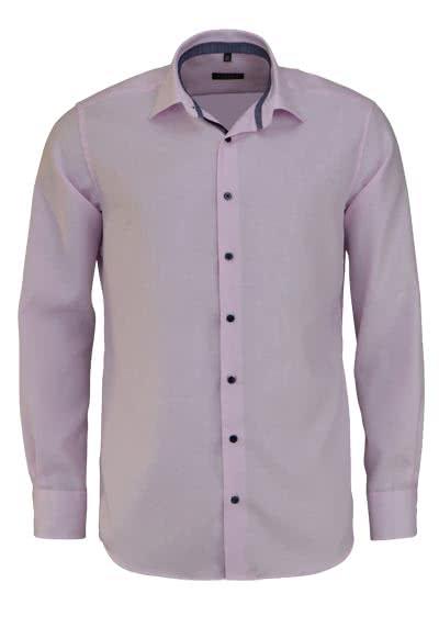 ETERNA Modern Fit Hemd Langarm New Kent Kragen Twill Streifen rosa - Hemden Meister