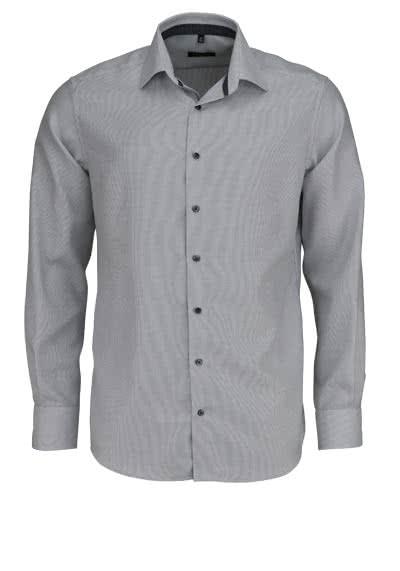ETERNA Modern Fit Hemd Langarm New Kent Kragen Twill Streifen grau - Hemden Meister