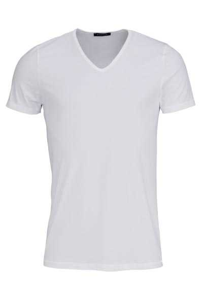 ETERNA Bodywear T-Shirt verlängerter V-Ausschnitt Stretch weiß - Hemden Meister