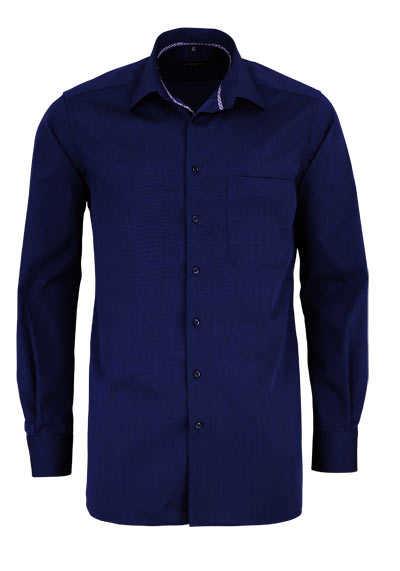 ETERNA Comfort Fit Hemd extra langer Arm Basic Kent Kragen nachtblau - Hemden Meister