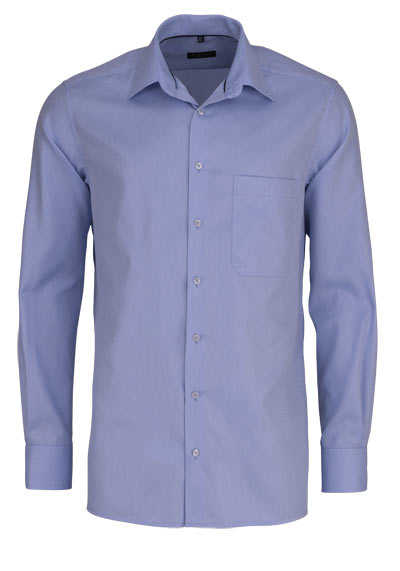ETERNA Comfort Fit Hemd extra langer Arm Basic Kent Struktur hellblau - Hemden Meister