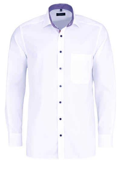 ETERNA Comfort Fit Hemd extra langer Arm New Kent Kragen weiß - Hemden Meister