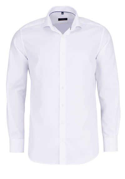 ETERNA Modern Fit Hemd extra langer Arm Haifischkragen Struktur weiß - Hemden Meister