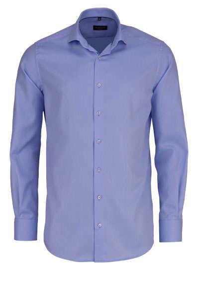 ETERNA Modern Fit Hemd extra langer Arm Haifischkragen Struktur hellblau - Hemden Meister