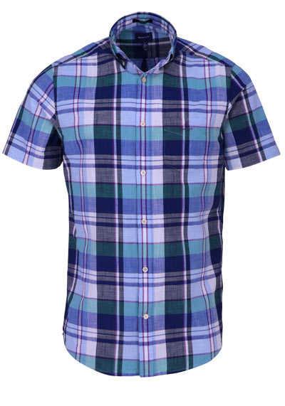 GANT Regular Fit Hemd Halbarm Button Down Kragen Karo dunkelblau - Hemden Meister