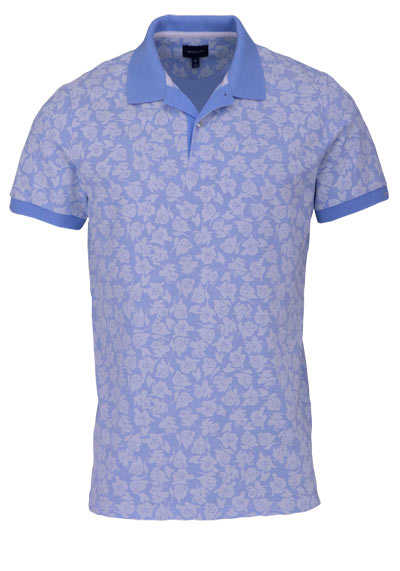 GANT Poloshirt Regular Fit Polokragen Allover Druck Blumen blau - Hemden Meister
