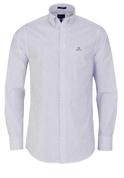 GANT Regular Fit Hemd Langarm geknöpft Punkte weiß - Hemden Meister