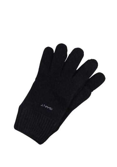 GANT Handschuhe Strick Wolle Applikation schwarz - Hemden Meister