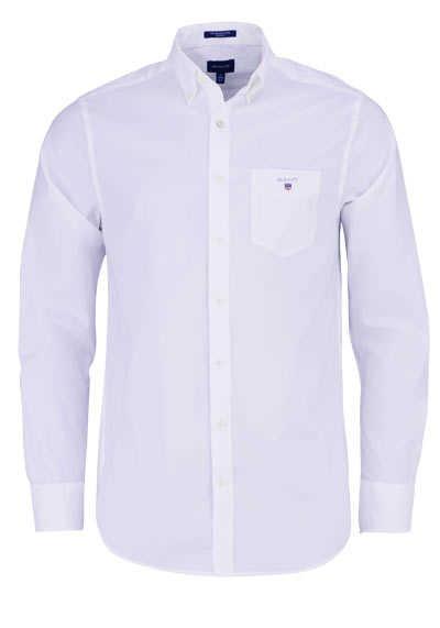 GANT Regular Fit Hemd Langarm geknöpft Brusttasche weiß - Hemden Meister