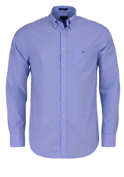 GANT Regular Fit Hemd Langarm geknöpft Brusttasche hellblau - Hemden Meister