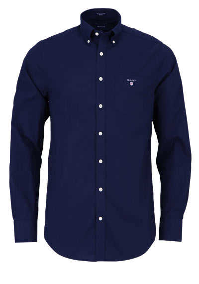 GANT Regular Fit Hemd Langarm geknöpft Brusttasche nachtblau - Hemden Meister
