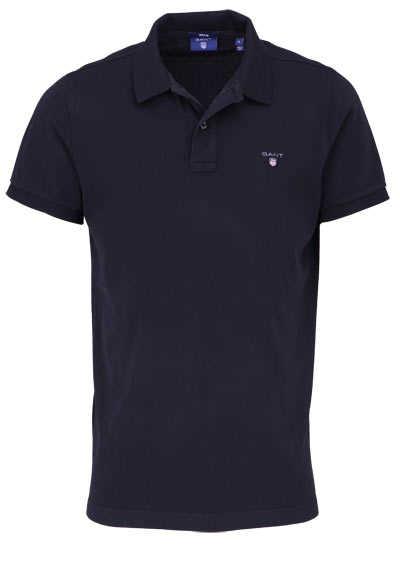 GANT Regular Poloshirt Halbarm geknöpfter Kragen Pique schwarz - Hemden Meister