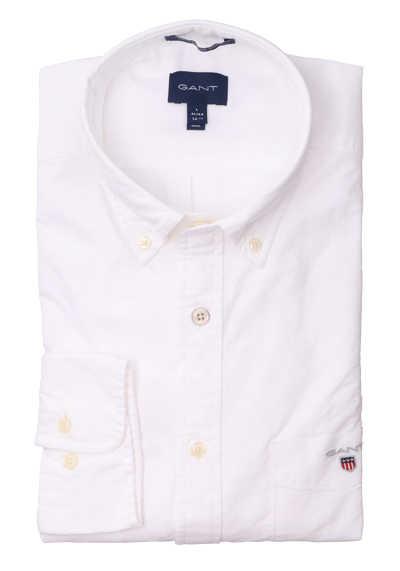 GANT Regular Fit Hemd Langarm geknöpft weiß
