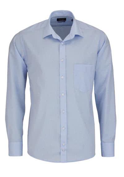 HATICO Regular Fit Hemd Langarm mit Brusttasche blau - Hemden Meister
